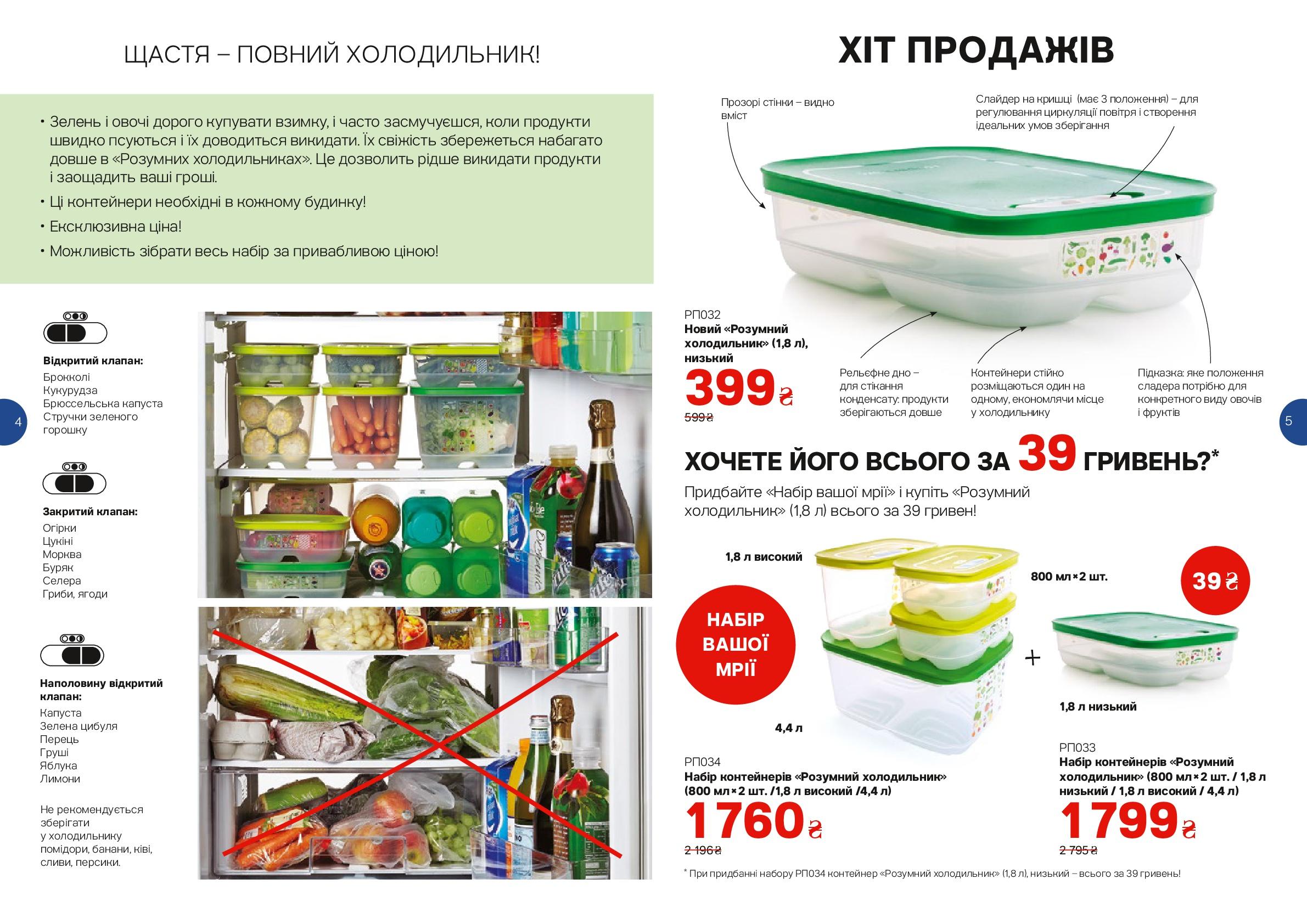 Набор контейнеров умный холодильник Tupperware.