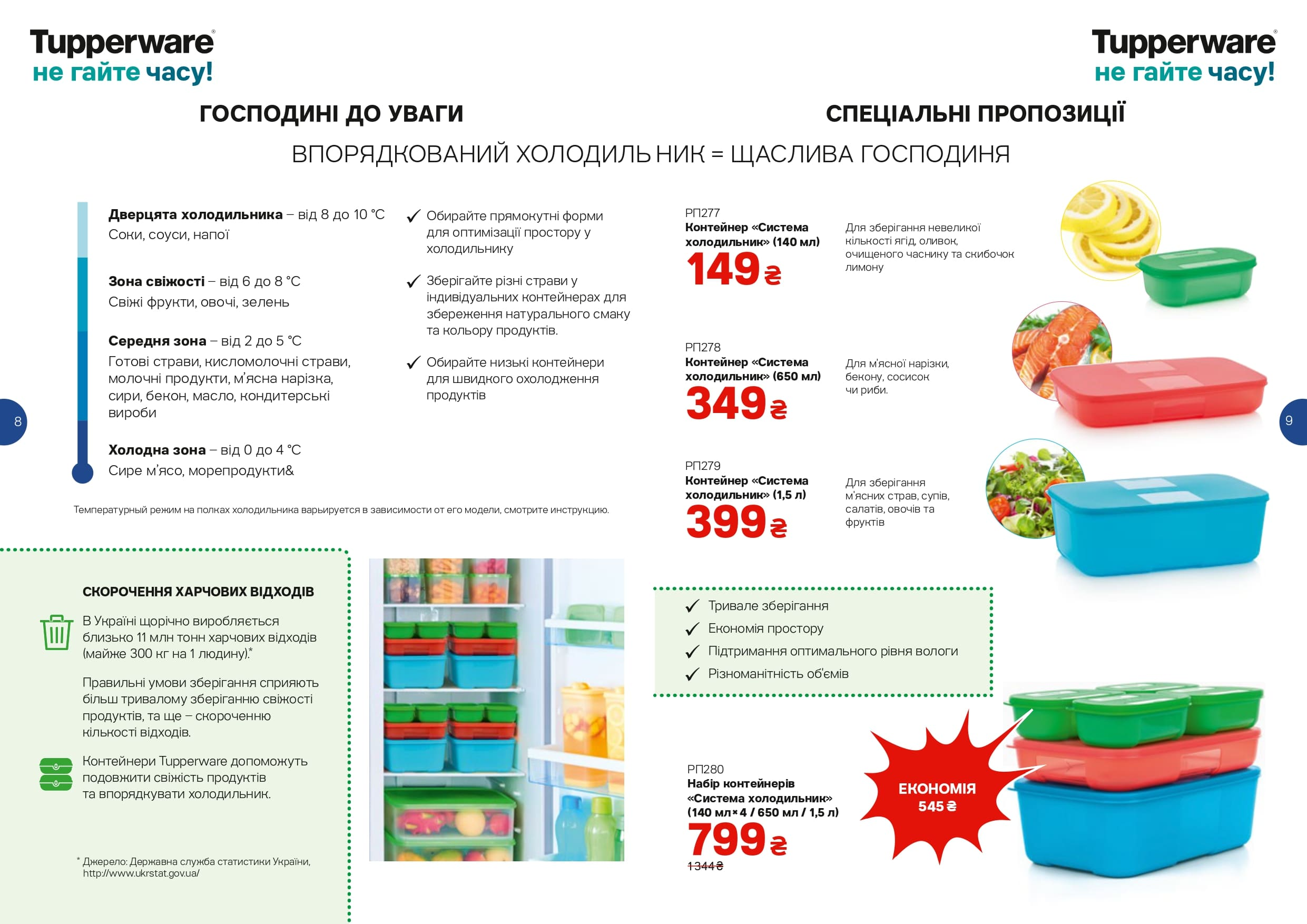 Система холодильник от Tupperware поможет вам навести порядок в вашем холодильнике