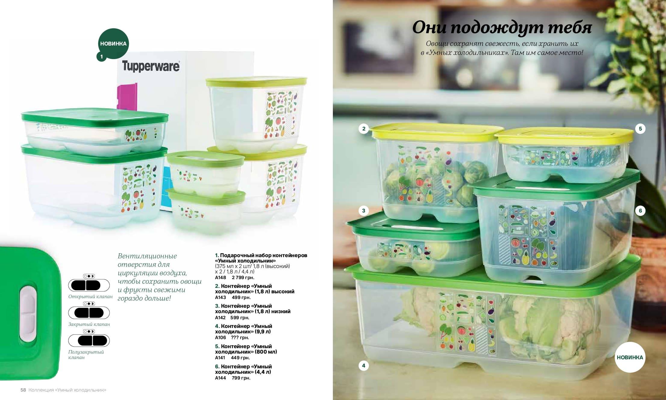 Умные холодильники tupperware  - это Серия революционных контейнеров, созданная для хранения овощей и фруктов в холодильнике в оптимальных условиях, обеспечит свежесть продуктов максимально долго.
