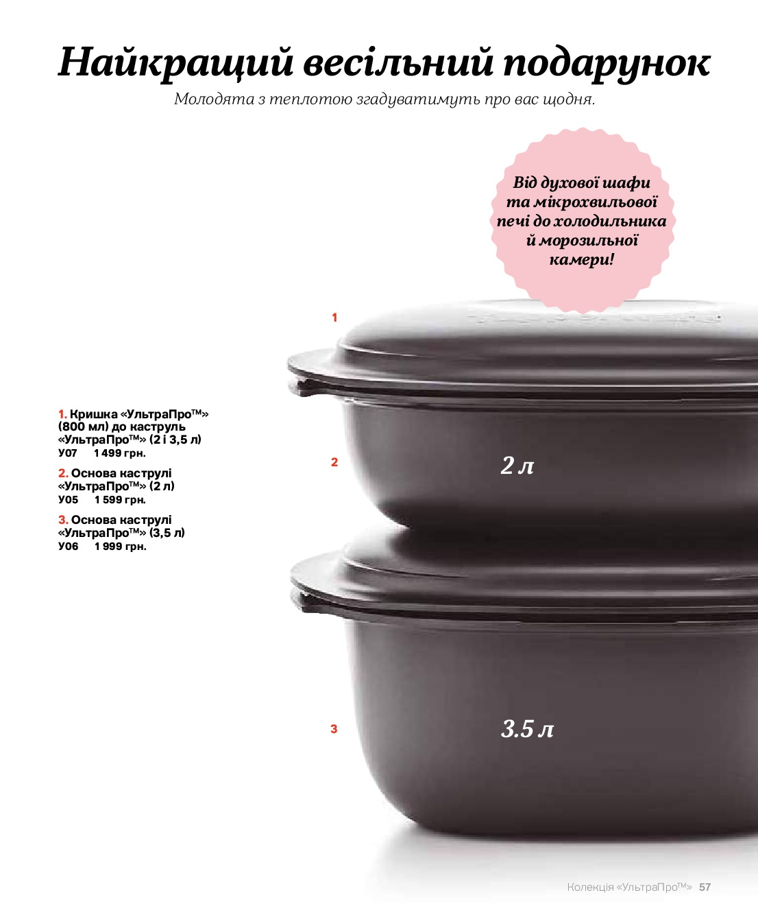 Страница каталога .56 Ультра про, кастрюли и крышки, цены все виды